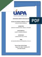 Derecho internacional Diario de doble entrada tarea 6.docx