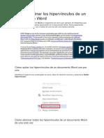 Cómo eliminar los hipervínculos de un documento Word.docx