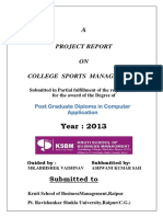 College Sports Management Doc.1