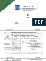 Plan Anual - Matemática 1°Básico - Docente