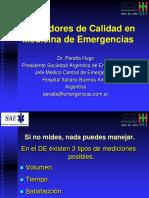 Indicadores de Calidad en Medicina de Emergencias Dr Hugo Peralta