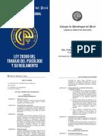 Ley 28369 Del Trabajo Del Psicologo y Su Reglamento