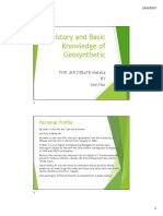 Part 1- History and Basic Knowledge of Geosynthetic