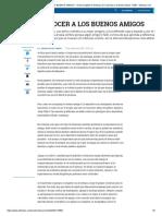 COMO RECONOCER a LOS BUENOS AMIGOS - Archivo Digital de Noticias de Colombia y El Mundo Desde 1.990 - Eltiempo.com