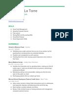 credit union resume