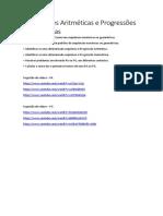 Progressões Aritméticas e Progressões Geométricas.docx