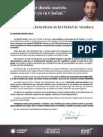 Carta abierta de Martín Sevilla