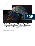 Pulsar Challenger GS 1x20 Night Vision Monocular — TacticalTwo