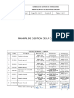 Manual de Gestion de La Calidad Cosapi