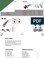 Pattfield PE-1200WS Angle Grinder Manual - Flex Pattfield User Manual