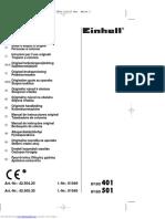 masina de gaurit cu coloana - EINHELL BT-BD 401 - 501 - user manual