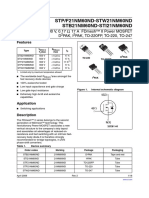 datasheet W21NM60ND