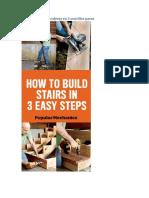 Cómo Construir Escaleras en 3 Sencillos Pasos