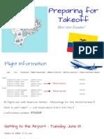 Pre-Departure Meeting - 5/13/19