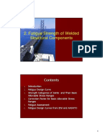 Fatigue strength of welded components