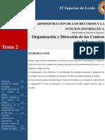 2 Organizacion y Direccion en Los Centros de Informacion