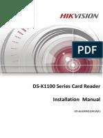 Installation Manual of DS-K1100 Series_Card Reader_V1.1
