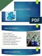 Super Capacitor's
