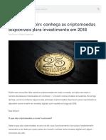 Bitcoin - Conheça as Criptomoedas