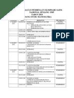 Laporan Kegiatan Pembinaan Olimpiade Sains Nasional Jenjang  SMP.docx