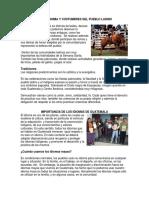 Gastronomía y Costumbres Del Pueblo Ladino