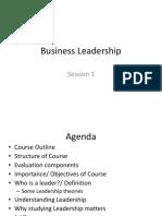 Session 1 Leadership