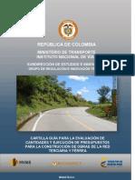 Cartilla evaluacion de presupuestos obras viales.pdf