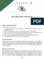 Chapter 15, Beverage Plant Sanitation
