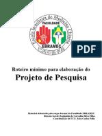 TCC Roteiro Mínimo Para Elaboração Do Projeto de Pesquisa
