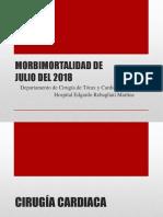 Morbimortalidad Julio 2018