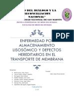 TRASTORNOS POR ALMACENAMIENTO LISOSOMAL, TRASTORNO DE LOS SIS. DE TRANSPORTE.docx