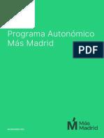 Mas Madrid programa autonómico