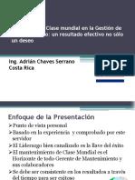 Liderazgo Clase Mundial Mejora Continua Gestion Mantenimiento Resultado Efectivo No Solo Deseo Uruman 2013