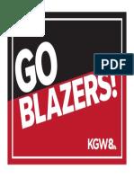 KGW 'Go Blazers' 8-1/2 x 11
