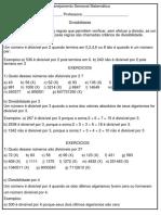 Planejamento Semanal Matemática