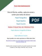 PAPELES RECOMENDADOS.doc