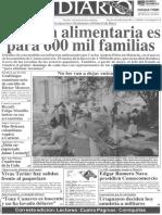 Carlos Andres Perez Desde Asamblea de Consecomercio - La Beca Alimentaria Es Para 600 Mil Familias - Primera Pagina El Diario de Caracas 14.04.1989