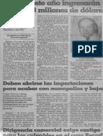 Edgard Romero Nava - Deben Abrirse Las Importaciones Para Acabar Con Monopolios y Bajar Precios 1989