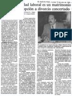 Edgard Romero Nava - La Inamovilidad Laboral Es Un Matrimonio Forzado Sin Opcion a Divorcio Concertado - 10.07.1989