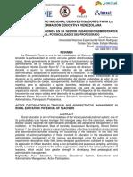 PARTICIPACIÓN PROTAGÓNICA EN LA GESTIÓN PEDAGÓGICO-ADMINISTRATIVA DE LA EDUCACIÓN RURAL