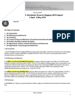 U.S. Navy Office of Naval Intelligence Worldwide Threat to Shipping (WTS) Report 3 April - 8 May 2019