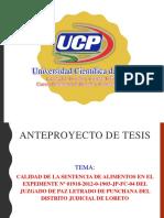 Diapositivas de Anteproyecto de Tesis - Omar Marreros Chota
