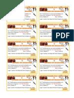 Tickets 1 -
