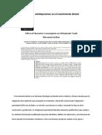 Efectos de Antidepresivos en El Movimiento Dental