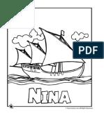 Página Para Colorear de Nina Ship _ ¡Cortejar! Actividades Para Niños Jr