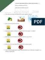 Examen Niños de Preescolar Lecciones 5 a 7