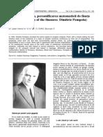 Dimitrie Pompeiu Personificarea Matematicii de Finete