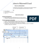Intro to MSExcel