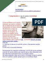 Información de Clase A Mercedes-Benz W168. Caja de Cambios (Manual)