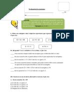 Evaluación de Ecuaciones